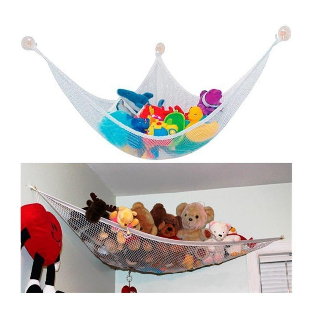 Toy Organizer - Extra Large Jumbo Toy Hammock - Best Home Corner Organizer - Suits Plush Toys, Pillows, Towels, Bedding, Sports