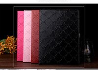 Hot ! Emboss Crown sleeping leahher stand flip cover case for ipad all models