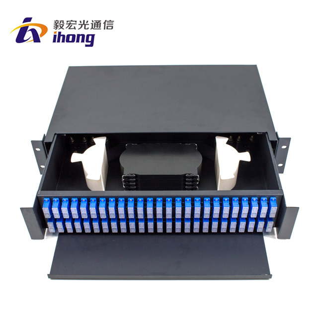 china supplier patch panel for 24 port Duplex SC adapter with transparent plug fiber optical patch pannel