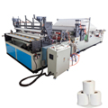 Automatic embossed toilet roll paper making machine