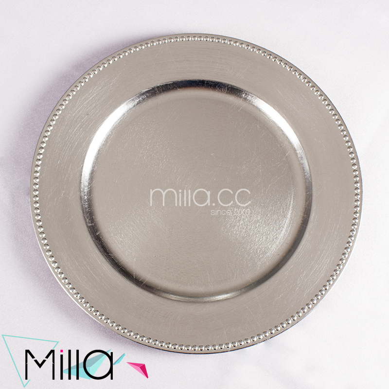 Silver plastic charger plate & List Manufacturers of Silver Plastic Plates Buy Silver Plastic ...