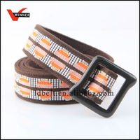 Yarn dyed unique fashion pattern canvas webbing belt