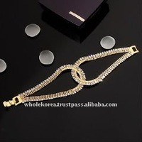 Korea Jewelry ACC2274 Gold Cubic Earring Bracelet