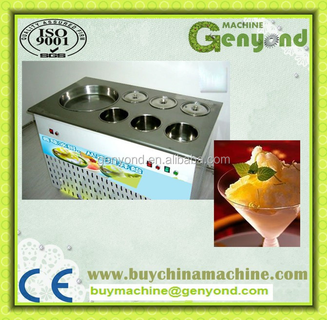 Flat pan fry ice cream machine,fried ice cream machine,fried ice pan machine