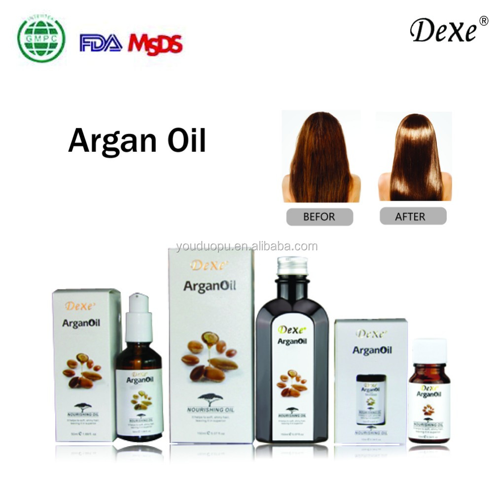 2016 Dexe New Item Smoothly Hair Care Argan Oil Hair Shampoo/Hair Conditioner/Hair Mask
