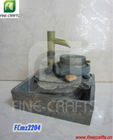 Polyresin stone mill figurine desktop water fountain