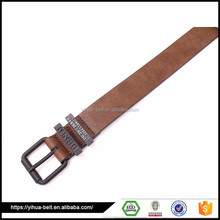 man fashionable cheap strong brown leather belt men