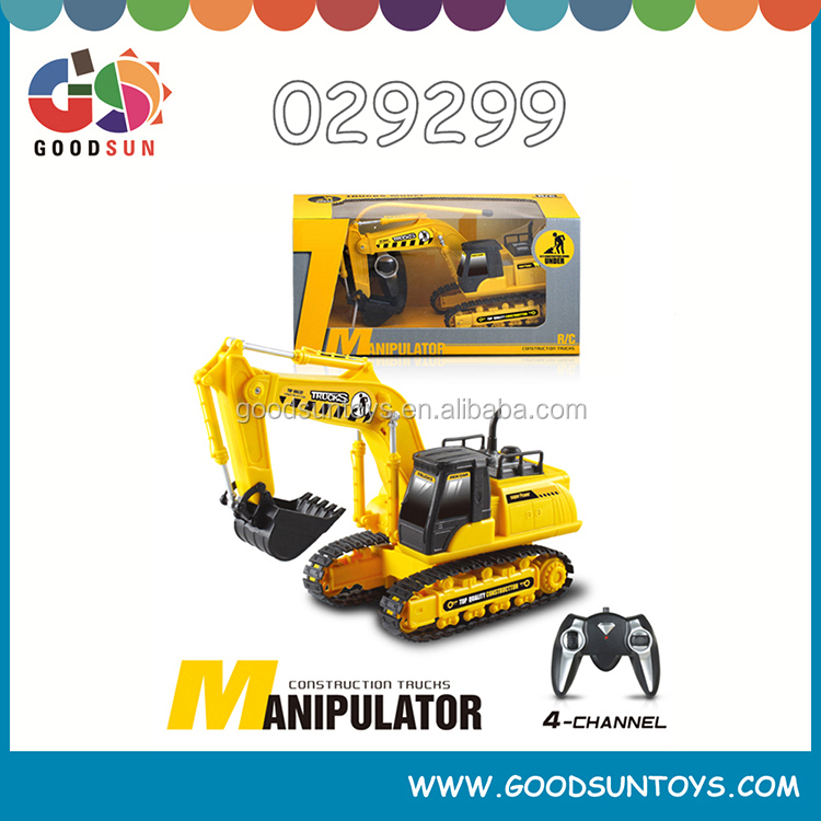 4 Ch RC excavator construction toys for kids Remote Control excavator radio control toy fashion model car 029299