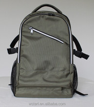 2014 new army green polyester laptop backpack