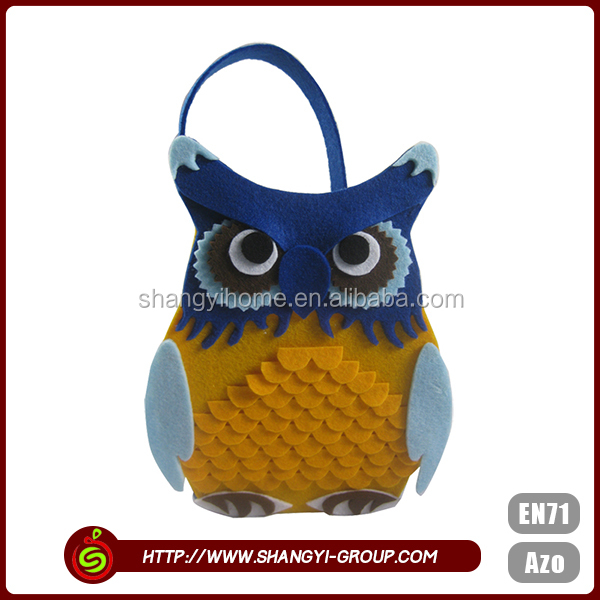 Lovely animal pattern sundries party supplies wholesale china polyester felt storage christmas gift basket