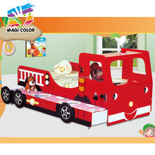 2016 wholesale children wooden car bed double,high quality kids wooden car bed double,best sale wooden car bed double W08A043