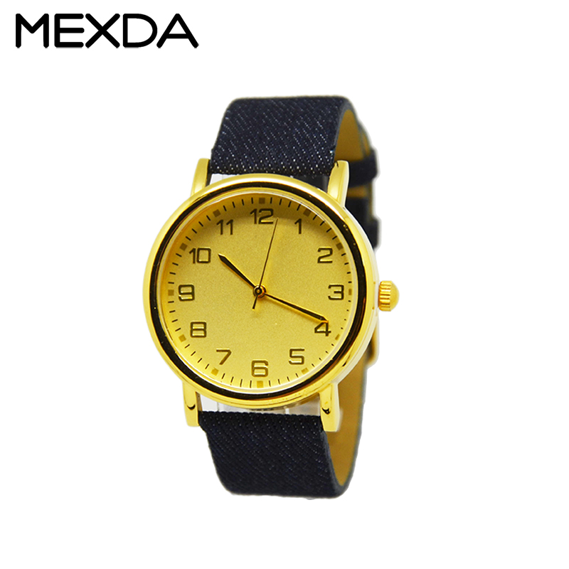 Wholesale hot sale custom Genuine Leather gold dial relogio masculino for sale