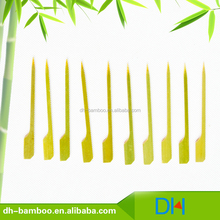 Natural eco-friendly Disposable Gun Shaped Skewer Japanese BBQ Bamboo Stick Wholesale