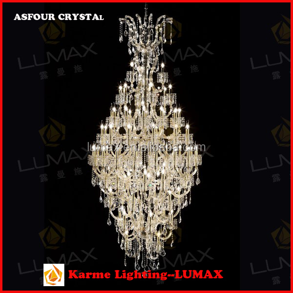 Karme Lumax Lighting Maria Therasa Crystal Chandelier Candle Lights Fancy Pendant Lamp for Villa, Resort, Hotel, Complex