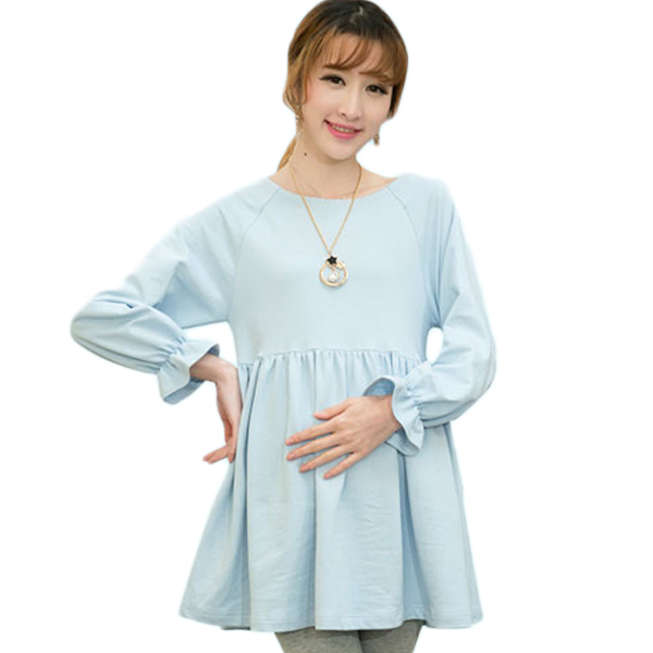 ae4feded006 Buy Cute Flare Sleeve Cotton Maternity Tops T-shirts for Pregnant Women  Plus Size Maternity Blouse Blouses Shirts Pregnancy Clothes in Cheap Price  on ...