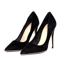 2017 fancy girls lady cheap rubber suede women sexy diamonds very high heel shoe