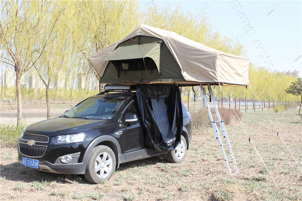 Outdoor camping canvas camping 4x4 accessories car roof top tent