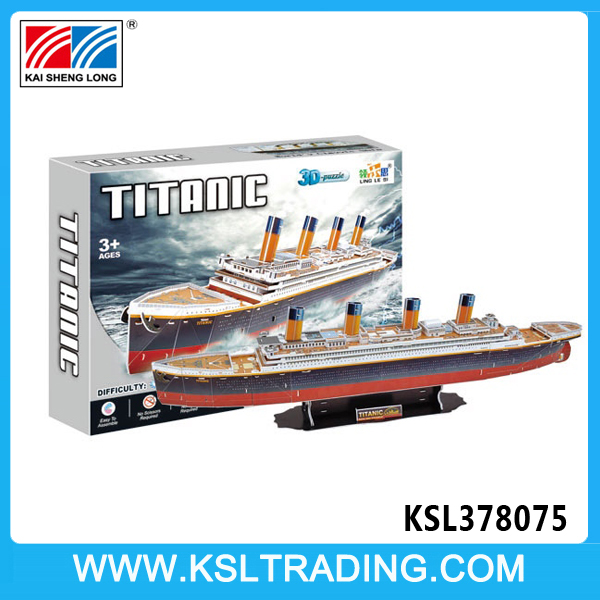 113PCS Titanic super custom cubic fun 3d puzzle