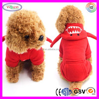 C424 Personalized Shark Modelling Pet Couples Hoodie Coat for Small Dogs Fleece Hoody for Couples