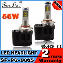 SUNFAX 9005 plug and play high power auto P6 55W led HB3 headlight led daytime running light kit DC8-38V