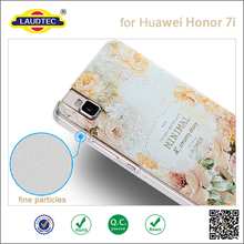 2015 new arrival! 3D flower design reliefs mobile phone case for Huawei honor 7i