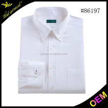 Top quality latest shirts design men white shirts formal shirts for wholesale