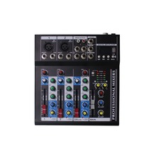 4 channels audio dj music mixer N-4 with DSP effect USB MP3 BT 1 output 1 return for sale