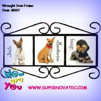 Iron wire picture frame with sublimation tile