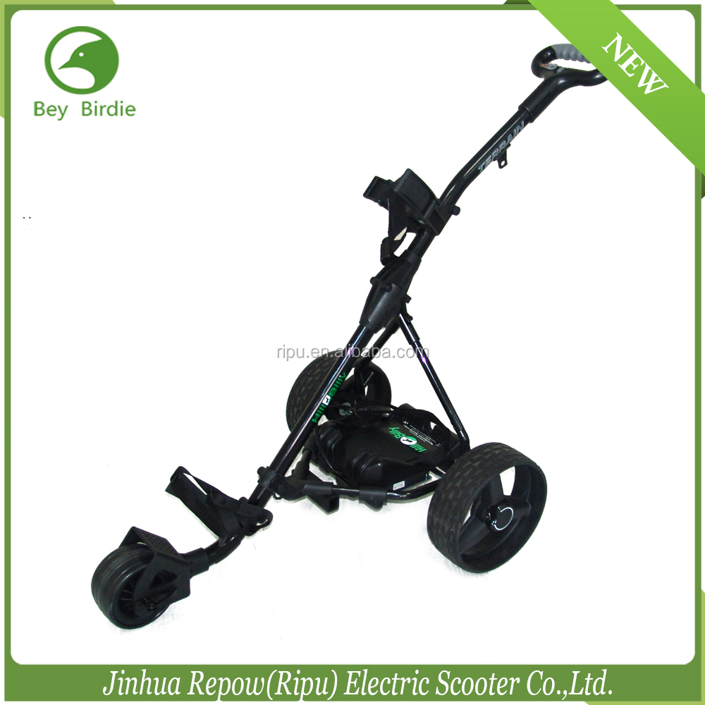 Electric Motorized Golf Trolley CE certificated Golf Trolley 12V 150W lithium battery electric golf trolley