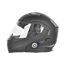 Freedconn Black Motorcycle Helmet with Built-in Bluetooth Intercom