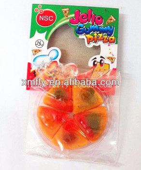 fruity assorted handicraft sweets pizza shaped gummy candy
