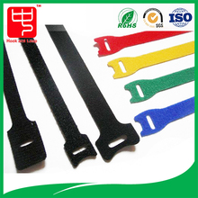 Adjustable hook and loop back to back cable tie for tie tidy
