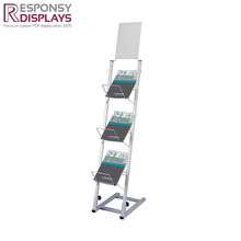 Custom new design magazine display cabinet, Album brochure rack manufacturer