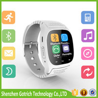 Wholesale 1.5 inch Bluetooth 4.0 android wear smart watch 2016 phone health smartwatch