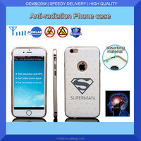 Factory wholesale low price anti-radiation custom leather phone case