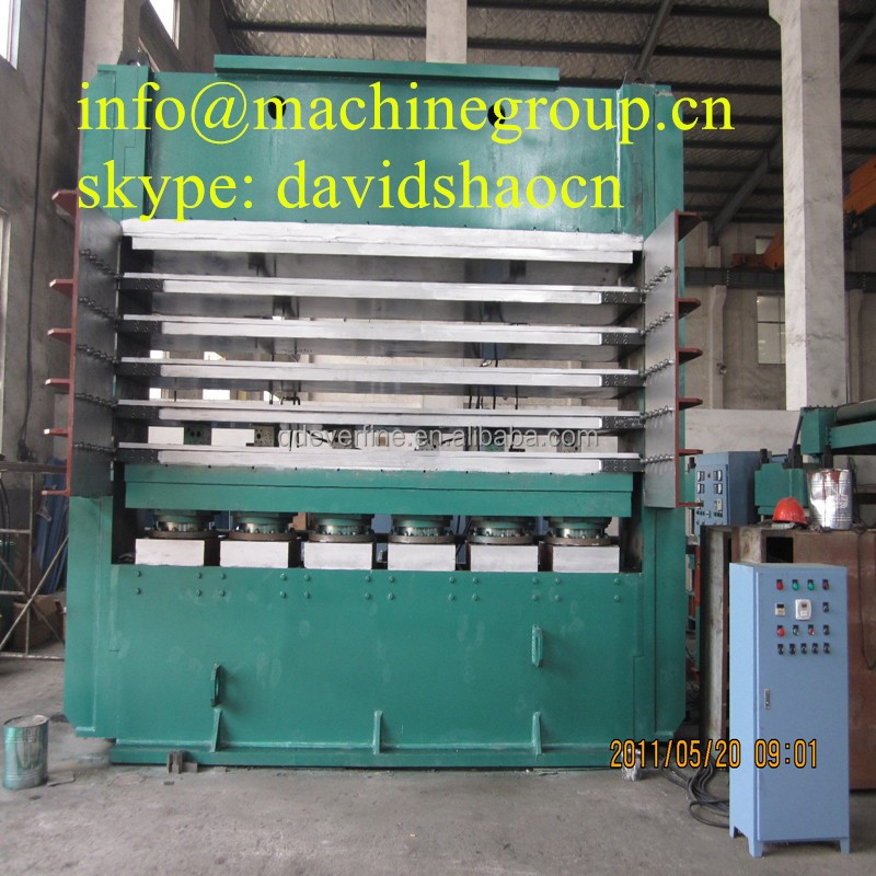 Slab side tyre tread vulcanizing press (matched with auto mould ejecting device)