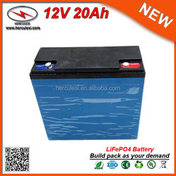 Rechargeable LiFePO4 12V 20AH Lithium Battery Pack 12V LiFepo4 Car Battery used for Electric Vericle