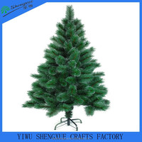 210cm artificial PET/PVC pine needle christmas tree metal stand
