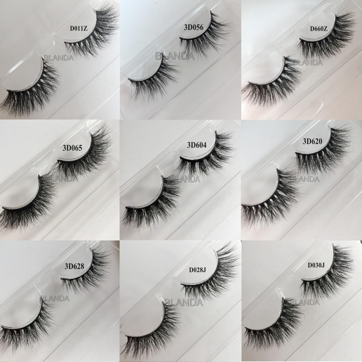 Great Quality and Softest Dramatic Style Lashes 3D Mink Eyelashes False eyelashes Made With Real Siberian Mink Fur Hairs