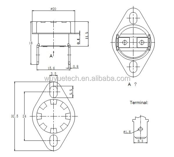 thermostat ksd 301  ksd301 thermostat  ksd301 thermostat 16a 250v  thermal disc temperature control
