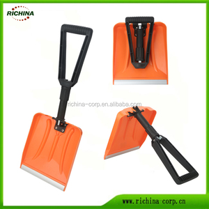 Collapsible Folding Snow Shovel with Durable Aluminum Edge Blade