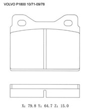 For Volvo Caterpillar Brake Pad 2725687 2726784 2725307 13046036062 Brake Pad