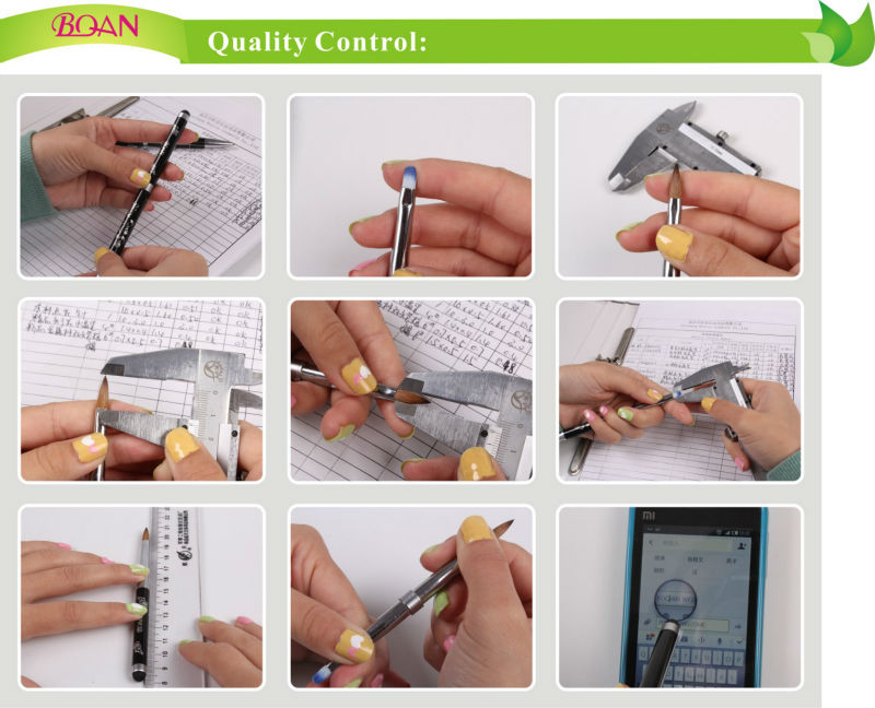 2014 Special Design Colorful Metal Handle Pure Acrylic Kolinsky Brush