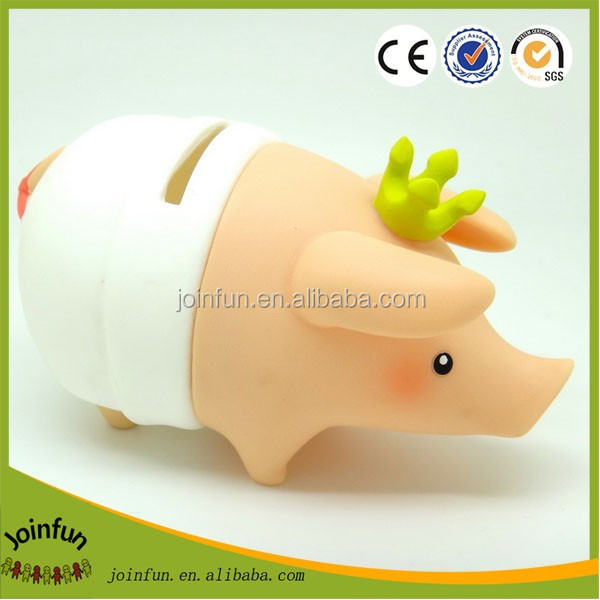 Custom DIY money box,Cartoon character plastic money boxes, OEM plastic diy money safe box for kids