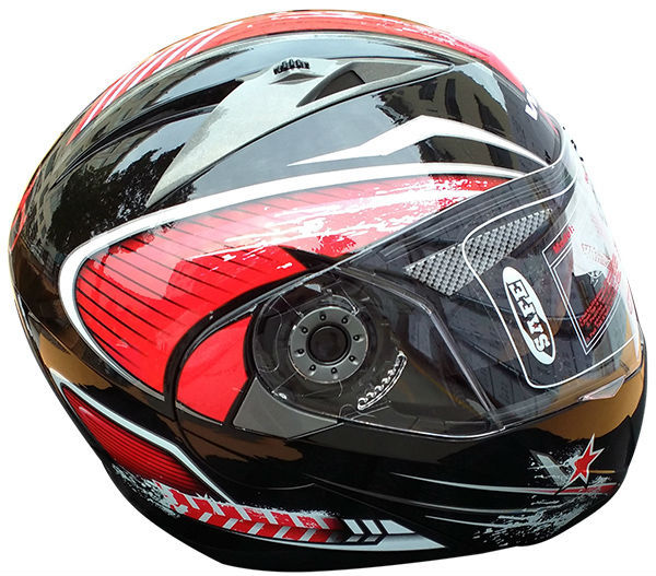 DOT standard motor parts dual visor motorcycle flip up helmet