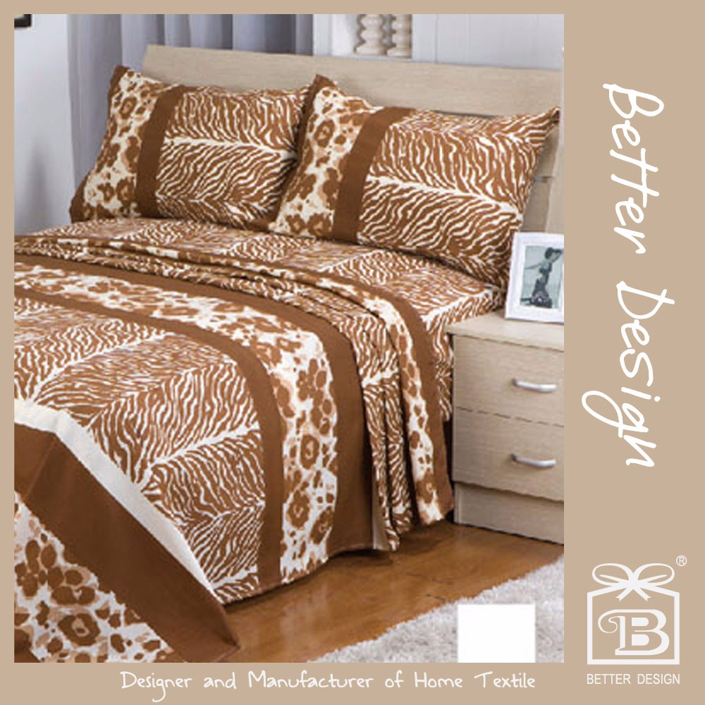 NICE DESIGN PRINT BED SHEET SET