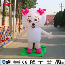 inflatable walking cartoon, inflatable sheep, inflatable female character