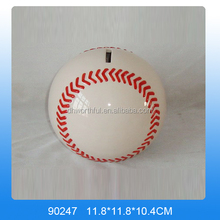 Ceramic baseball coin bank