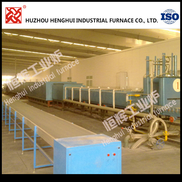 Customized 360KW Lithium battery cathode material industrial furnace with automatic propulsion system