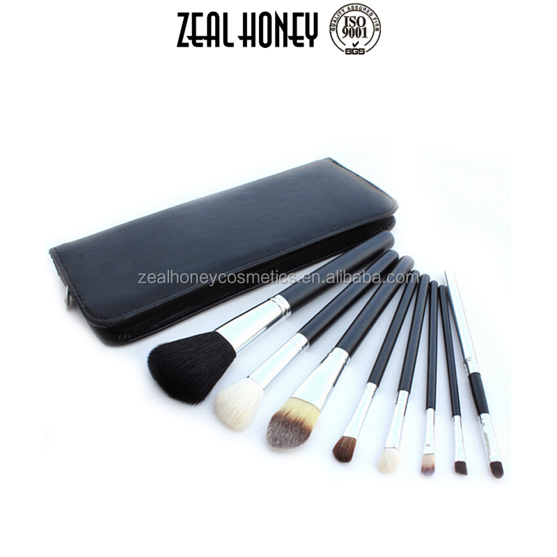 2017 Hot Sales 8 Pcs Makeup Brushes belt bag Factory direct sale price For Cosmetic Brush